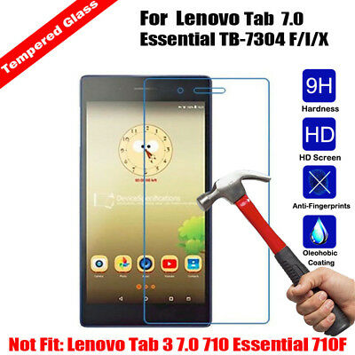 Tempered Glass Screen Protector Cover For Lenovo Tab 7 Essential TB-7304 F/I/X