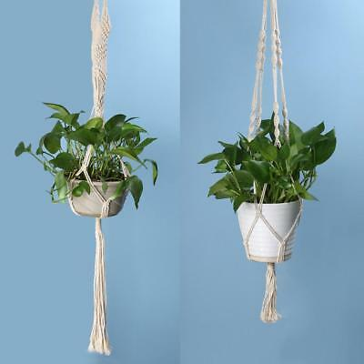 Holder Macrame Plant Hanger Jute Rope Pot Hanging Planter Basket Braided Craft
