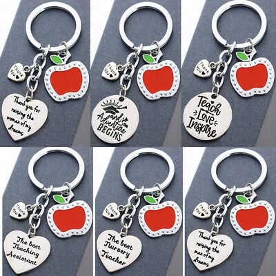 Apple Keyring Thank You Gift For Teacher,Teaching Assistant,Nursery Teacher New