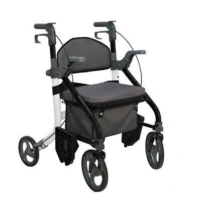 EC Fusion 2 in 1 walker wheelchair combination walking aid rollator hybrid