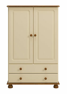 Copenhagen 2 Door 2 Drawer Combi Robe Cream & Pine