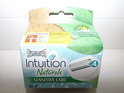 "Wilkinson Intuition Naturals Rasierklingen 1x3Klingen ""Sensitive Care"" EAN(4554)"