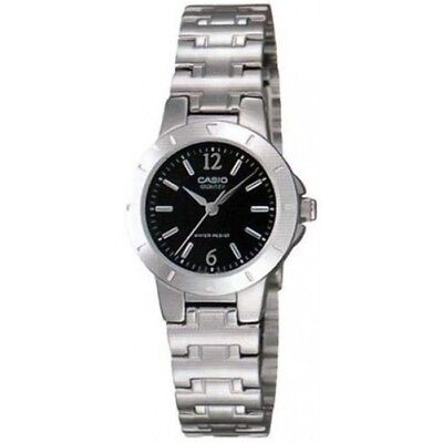 Casio LTP-1177A-1A Black Dial Analog Womens Watch LTP-1177 Stainless Steel New