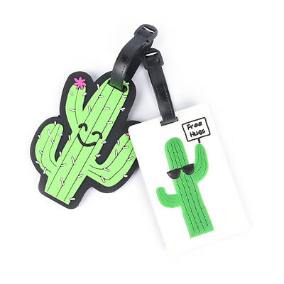 Cactus Luggage Tag Suitcase ID Address Holder Baggage Boarding Label Wide