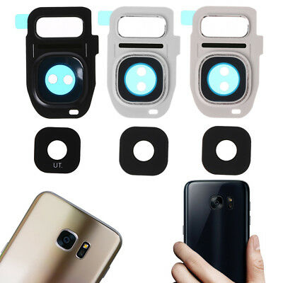 Metal Frame Rear Camera Lens Glass Cover Replacement New For Samsung Galaxy S7