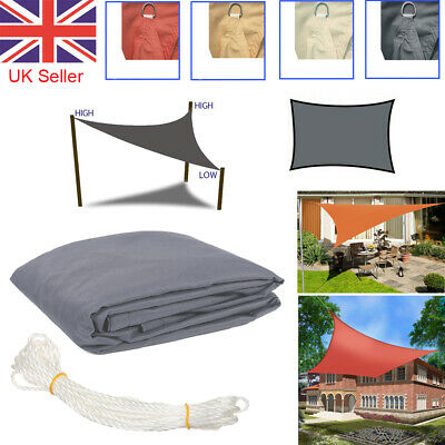 Sun Shade Sail Garden Patio Sunscreen Party Awning Canopy Screen 98% UV Block UK