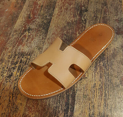 Handmade Leather Sandals Natural Greek Production New Design Ancient Style