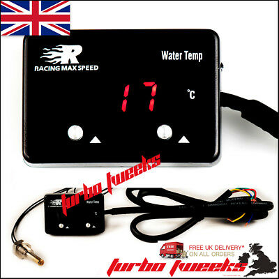 Universal Slim Led Digital Water Temp Temperature Vehicle Car Boat Bike Gauge