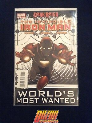 The Invincible Iron Man #8 World's Most Wanted 2008 Marvel Comics