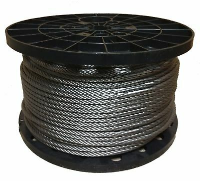 """3/16"""" Stainless Steel Aircraft Cable Wire Rope 7x19 Type 304 (150 Feet)"""