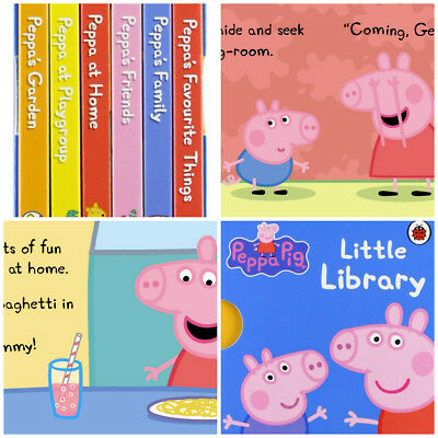 Peppa Pig Library Board Book Pre-school Mini Books Kids Children Pocket Story