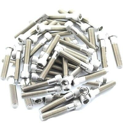 "Pack of Bolts for Rock Climbing Wall Holds 2"" Choose Indoor or Outdoor Use Steel"