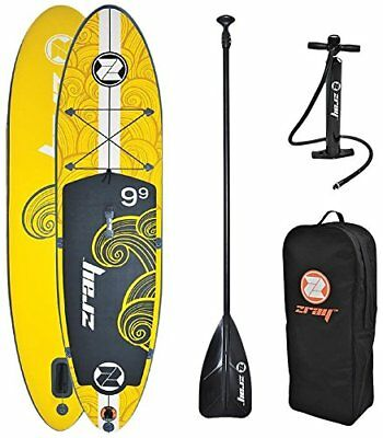 """Z-Ray X1 9'9"""" All Around SUP Stand Up Paddle Board Package w/Pump, Paddle and 6"""""""