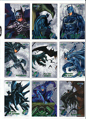 Batman Forever Metal 1995 Silver Flasher Parallel Chase Cards - Pick 1 Card