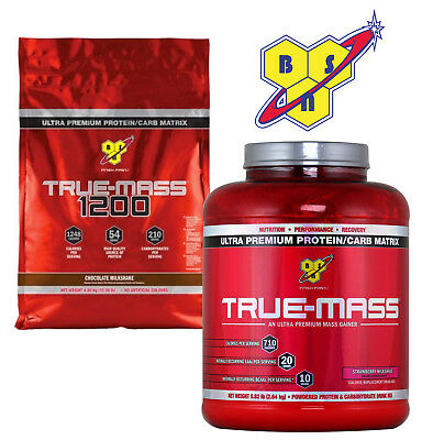 BSN True Mass 2.6kg / True Mass 1200 4.8kg Anabolic Muscle Mass Weight Gainer