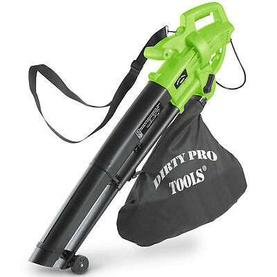 3000W Leaf Blower 3-in-1 - Blows, Vacuums and Mulches Leaves shredder - 45L Bag