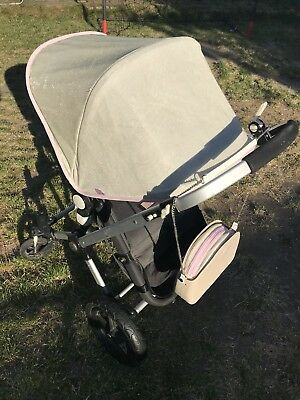Bugaboo Cameleon Non Extendable Hood Sparkly Gold Ted Baker Blossom Cherry