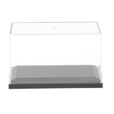 """3.94""""x1.97""""x 2.36"""" Action Display Case Small Clear Acrylic Model Show Box"""