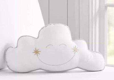 Pottery Barn Kids PBK Metallic Embroidered Cloud  decorative pillow