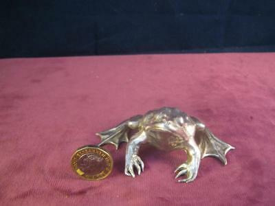 Hallmarked Sterling Silver Sculpture Model  Frog BSE Products  193g London 1988