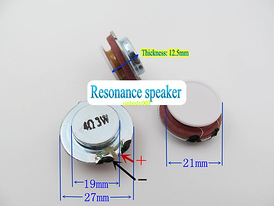 2pcs 24mm 4Ω 2W Vibration Speaker Bass audio Resonance horn loudspeaker 4ohm