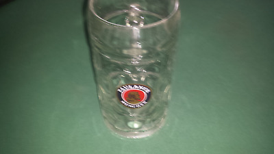 Paulaner München/Munchen 1 Liter Dimpled Glass Beer Stein Mug Rastal of Germany