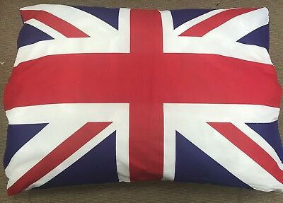 Large Dog Pet Bed Pillow Cushion Removable Washable Zipped Cover UNION JACK