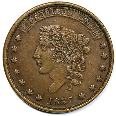 1837 Low-34 Not One Cent Hard Times Token