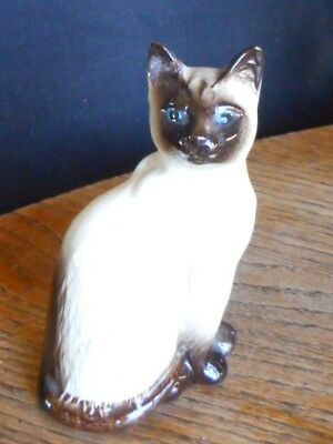 "Vintage Siamese Cat Figurine Beswick, England Blue Eyes no 1887 apx 4"" tall"