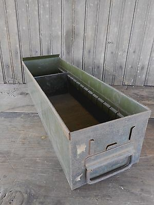 Vintage Metal Box Drawer Storage Industrial Rustic Primitive Farm Garden #4
