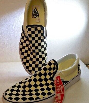 1285d774df VANS MENS SIZE 11.5 Slip-On Late Night Burger Black   White Checker ...
