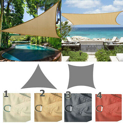 Outdoor Sun Shade Sail Garden Patio Sunscreen Awning Canopy Screen 98% UV Block