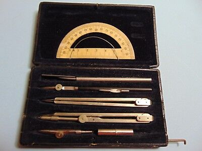 3 Items: Drafting Instruments E.O. Richter, Germany & Slide Rule & Protractor