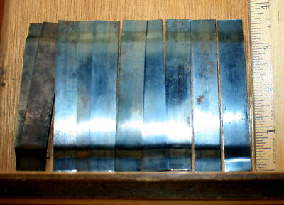 "Steel Galley Springs 3 1/2""  ]10 pieces] Mostly New. Letterpress Printing"