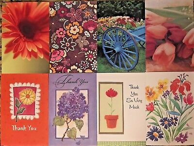 Pack of Thank You and Blank Notecards with Envelopes - 24 Cards - 8 Designs