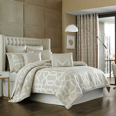 J Queen New York Comforter Set Kingsgate Grey White King Size