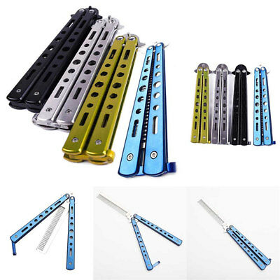Overwatch Balisong Butterfly Knife Trainer Training Practice Metal Steel Floding