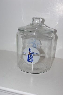 Vintage Walter Baker & Co Bakers Chocolate Dorchester, MA Counter Jar RARE