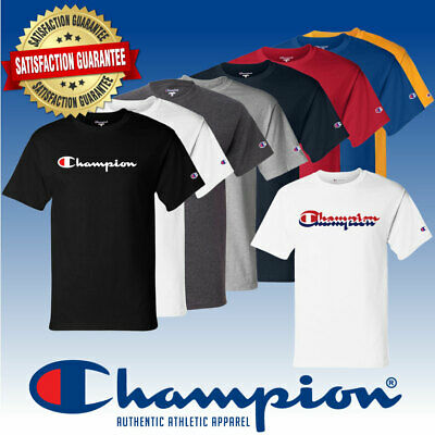 Champion Men's Classic Jersey Script T-Shirt eBay Summer Sale Event