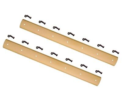 """2- E10021 - Gannon Style Heat Treated Curved Reversible Box Blade 1/2""""x6""""x83.63"""""""