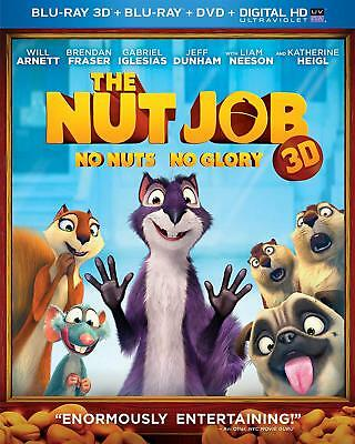 THE NUT JOB (2011) 3D + 2D Blu-Ray + DVD + Digital BRAND NEW Free Ship