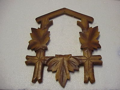 """Vintage Used 8 ½"""" x 6 ½"""" Cuckoo Clock Two Tone Front Trim parts repair O"""