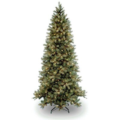 downswept douglas fir slim pre lit christmas tree