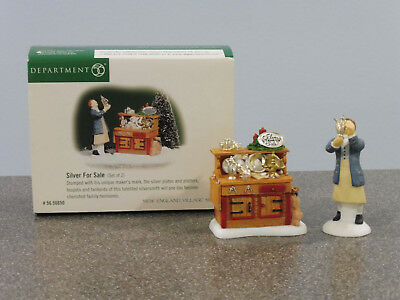 "D56-New England Village, ""Silver for Sale"", set of 2, retired 2002, NIB"