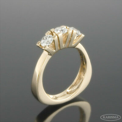 Diamond Ring Solitaire Accented 1.36 Carat 18 Kt Yellow Gold Vvs2 Size 4.5-9 Jewelry & Watches Fine Rings