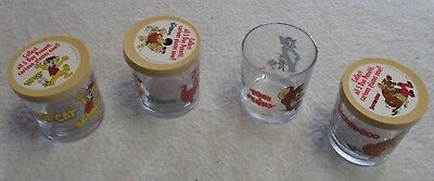 Duo Penotti Glass Cups Marked Hanna Barbera 1996 Scooby Doo Top Cat Tom Jerry 4