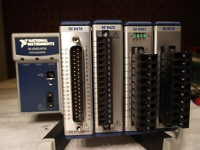 CDAQ-9174 National Instruments CompactDAQ Chassis plus 4 modules