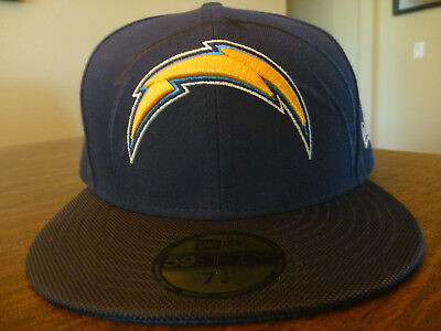 sports shoes d2201 37a61 LOS ANGELES CHARGERS NEW ERA 59FIFTY NFL SIDELINE NAVY BLUE FITTED HAT Sz 7  1