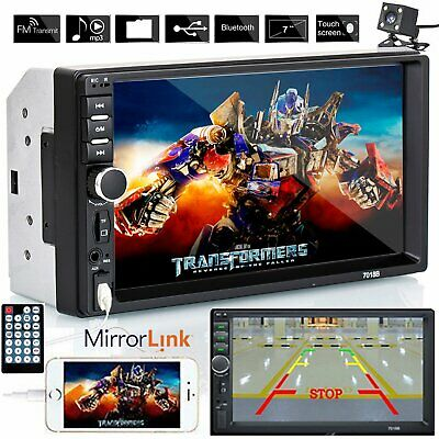"7"" Double 2 DIN Touch Screen Car Radio Bluetooth Stereo MP5 Player+Rear Camera"