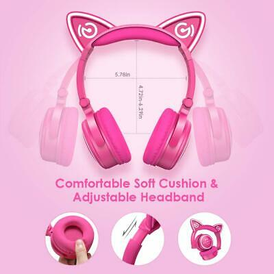 MindKoo Unicat MH-6 Kids Headphones,Cat Ear Bluetooth V4.2 Headsets wtih Mic